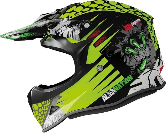 Casco Shiro MX307-308 Alien Nation amarillo - Imagen 1